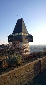 Graz Austria Schlossberg hill of Graz
