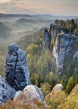 Sandstone Morning (HDR, Saxon Switzerland, Germany)