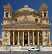 Malta - Mosta - Church exterior