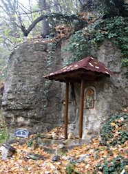 Wayside crucifix near Holy Trinity Monastery, Bulgaria