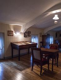 Chambre reconstituée d'Alphonse de Lamartine à la pension Perrier, musée Faure d'Aix-les-B