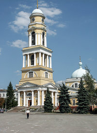 Nativity of Christ Cathedral in the Lenin square. Lipetsk 2002