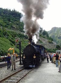 027 MV-Alpentour 2010 - Gletsch - Dampfbahn Furka Bergstrecke