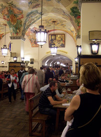 at the Hofbrauhaus