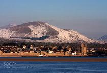 Caernarfon castle and Town walls