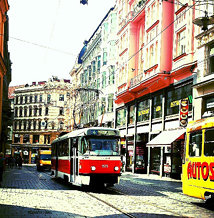 The streets of Brno, Czech Republic.