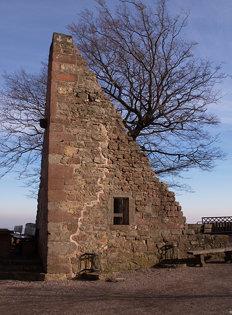 Reste eines Gebäudes