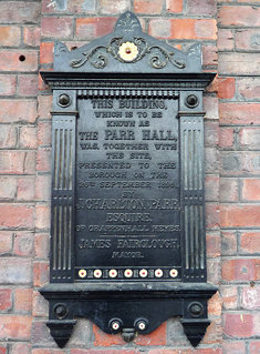 Parr Hall Plaque