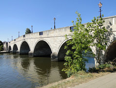 Chertsey Bridge over the Thames