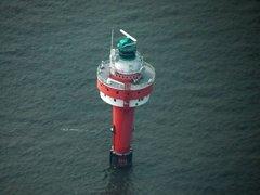 "Leuchtturm ""Alte Weser"" im Wattenmeer bei Wangerooge"