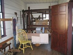 Weaving Room and Barn Loom