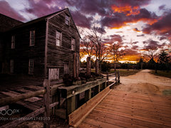 Batsto Sawmill at sunset