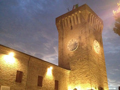 Torrione del Castello Svevo #portorecanati #nofilters #architecture #towers #igers #igtravel #clock