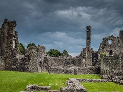 Clouds over Coity  Castle