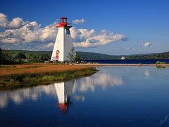 Baddeck Lighthouse on Kidston Island