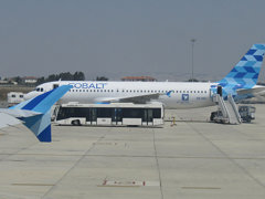 Cobalt Air on the tarmac of Larnaca