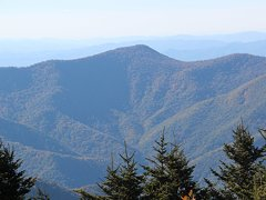 View from the summit of Mount Mitchell