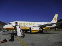 Bhutan Airlines A319-100 at Paro, Bhutan