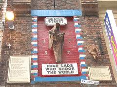 Beatle Street Memorial, Matthew Street, Liverpool, England