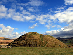 Norman Motte at Tomen-y-mur Roman Fort