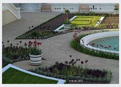 Schlosshof: Broderie westliche orangerie 2011-05