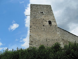 Wanderung Brigels Dorf - Waltensburg Dorf - Burgruine auf Munt Sogn Gieri - Bahnhof Rueun