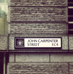John Carpenter Street, leading to Wes Craven Avenue