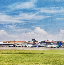 The beautiful #Bali #airport! #clouds #sky #green #blue #travel #balitrip