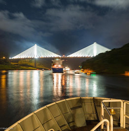 Approaching the Centennial Bridge while transiting the #Panama #Canal #ngexpeditions #lindbladexpedi