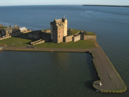 Broughty Castle from the north west