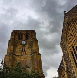 Bell tower in Beccles stand high above the town. May not be its real name. #upsticksngo #travel #tou
