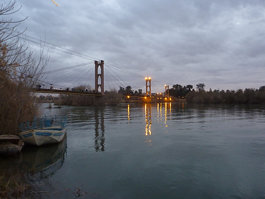 Deir ez-Zor suspension bridge