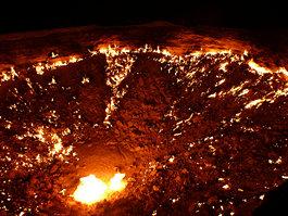 Derweze  gas crater