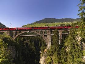 Solisviadukt, Obervaz, Graubünden, Schweiz