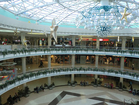 Minsk unterirdisches Einkaufszentrum am Platz der Unabhängigkeit