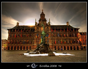 Stadhuis & Brabo, Antwerpen - City Hall and statue of Brabo, Antwerp, Belgium