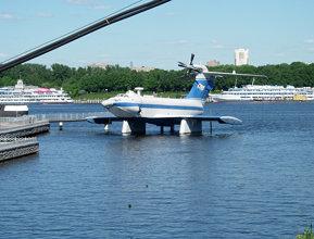The ekranoplan A-90 Orlyonok (Eaglet)