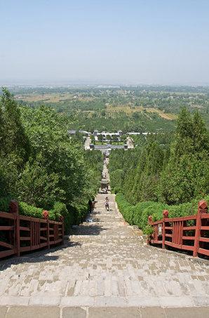 View from the tomb of Qín Shǐhuáng