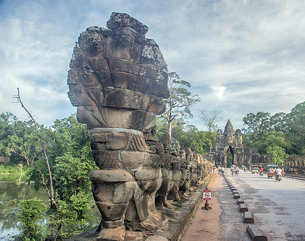 The gateway to Angkor Thom