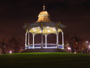 Rotunda by the River at Night