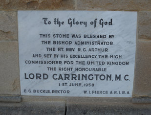 All Saints Anglican Church - Foundation Stone