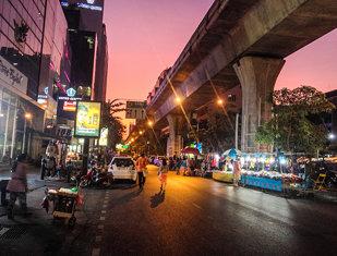 Silom Road, Bangkok, Thailand