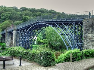 The Iron Bridge Coalbrookdale Shropshire