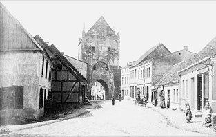 Steintor Backsteingotik Brama Kamienna dawnych murów obronnych miasta
