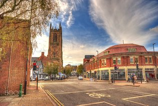 Derby Cathedral and Clouds