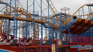 Shock Wave Super Looper roller coaster>