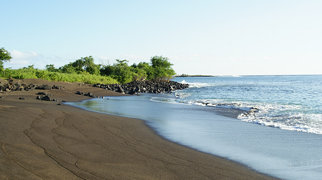 Black beach, Ecuador>