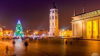 Cathedral Square, Vilnius>