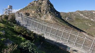 Ceuta border fence>