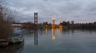 Deir ez-Zor suspension bridge>